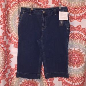 NWT Nine West Jeans 10 Capri Pants - Denim Capris